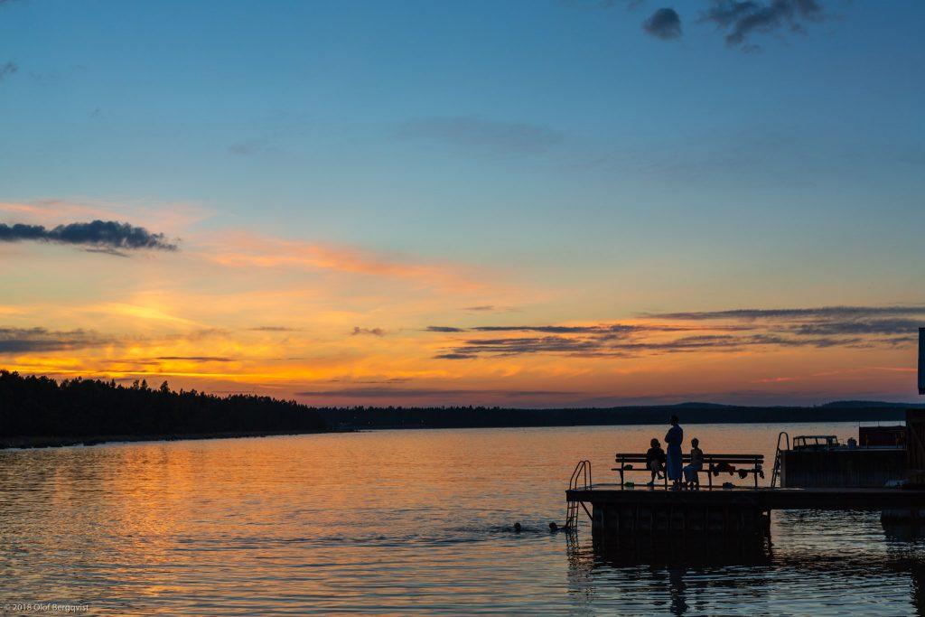 Evening swim in the baltic sea