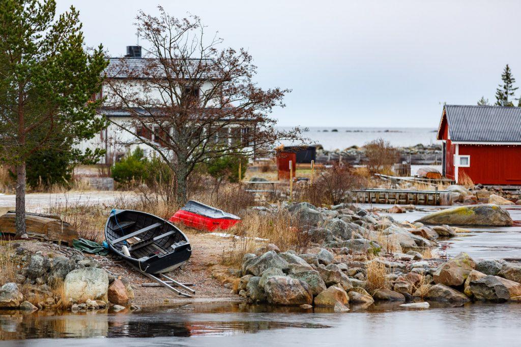 Båtar tas upp för vintern