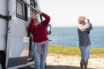 man beach vacation couple